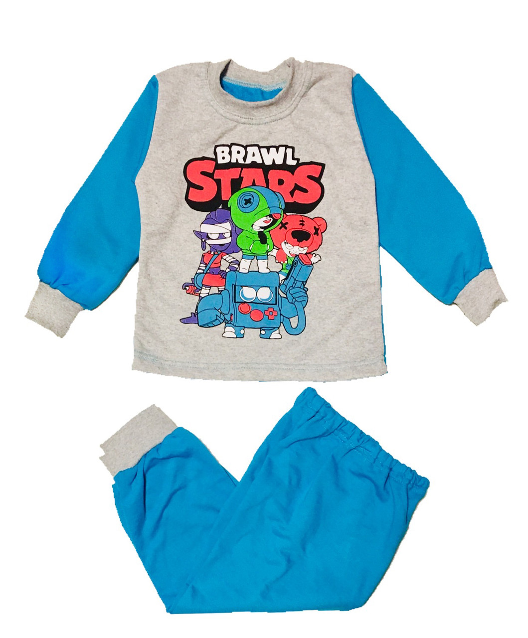 Тепла піжама дитяча для хлопчика Бравл Старс, 104см