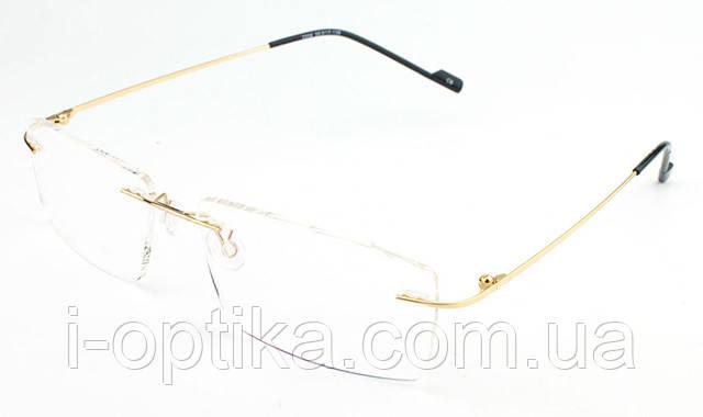 Безободковые титанові очки за рецептом, фото 2