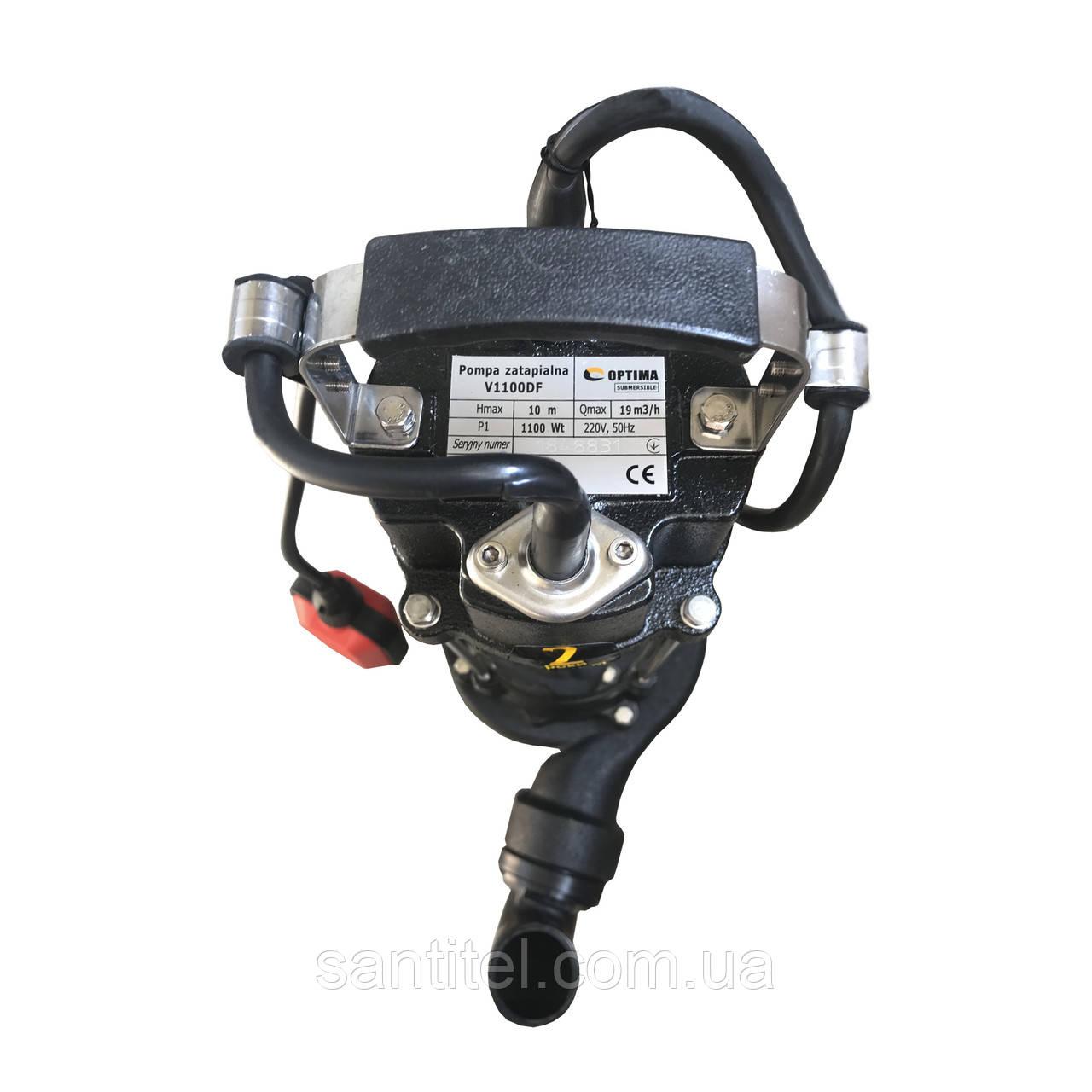 Насос фекальный с режущим механизмом Optima V1100 DF 1.1кВт