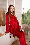 Женская бархатная пижама: укороченный халат и штаны, фото 4