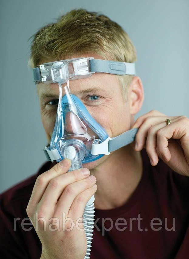 Повна маска Respironics Amara Gel Full Face CPAP Mask with Exhalation Port Size M