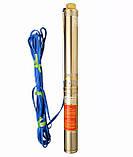 Насос скважинный с повышенной уст-тью к песку OPTIMA  3.5SDm2/9  0,37 кВт 50м + пульт+кабель 15м NEW, фото 4