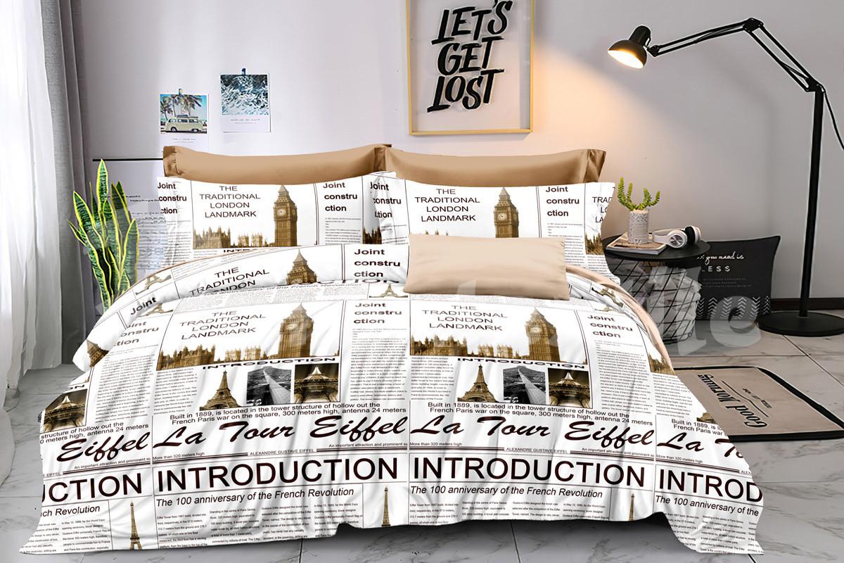 """Комплект постельного белья полуторный из сатина ТМ """"Ловец снов"""", Лондон"""