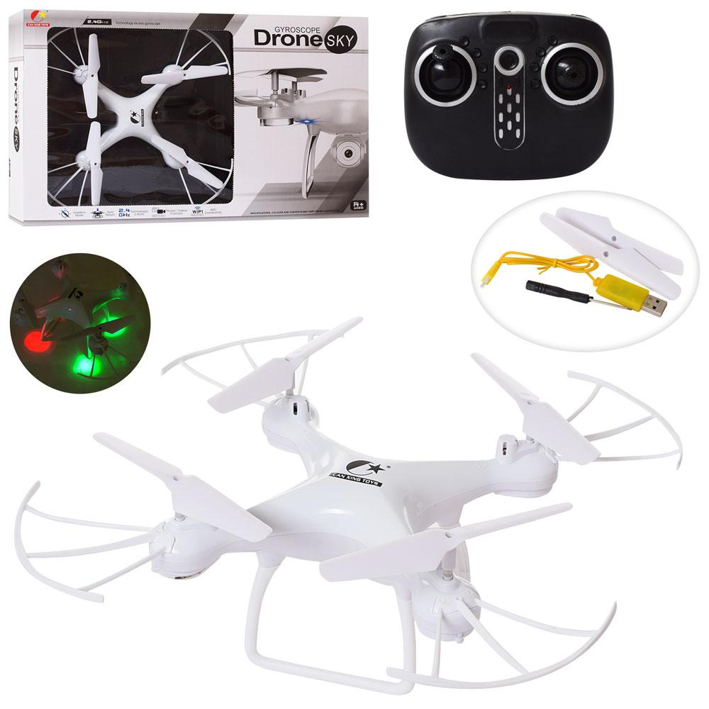 Квадрокоптер на пульте управления CX - 54 W, гироскоп, камера 2МП, батарея 3.6v, wi-fi белый