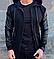 Мужской повседневный черный бомбер кофта с капюшоном, фото 2