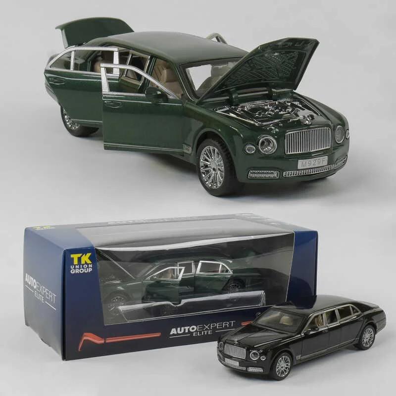 Машинка металлическая EL 3902 ТК Group М1:24 Bentley с открывающимися дверями (2 цвета), свет, звук