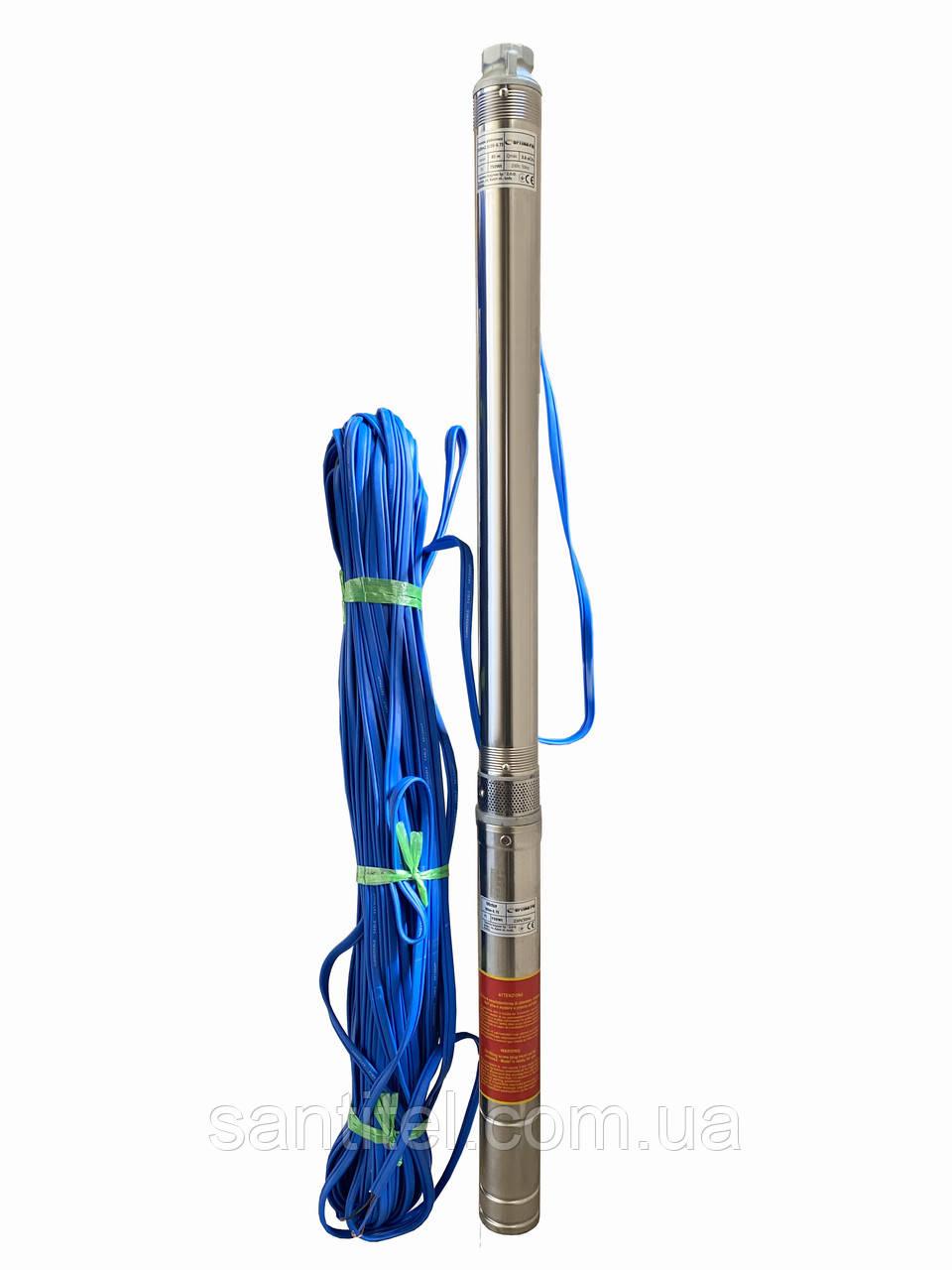 Насос скважинный с повышенной уст-тью к песку OPTIMA PM 3SDm2.5/20 0.75 кВт 90м + 70 м кабель