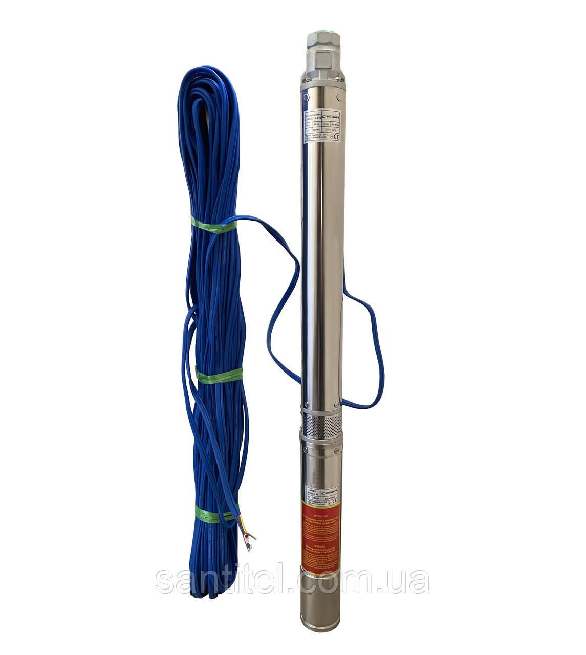 Насос скважинный с повышенной уст-тью к песку  OPTIMA PM 3.5SDm3/16 0.75 кВт100м + 60 м кабель