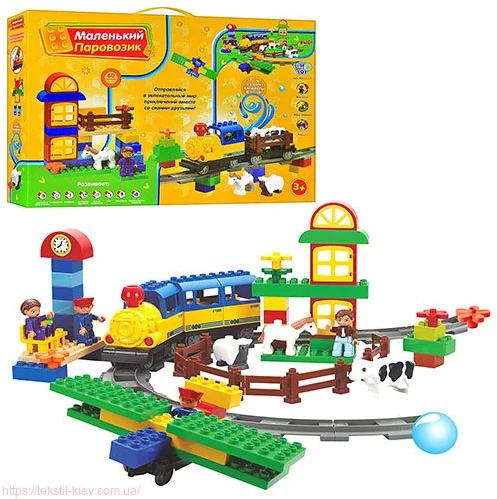 Детский конструктор железная дорога JIXIN M 0439 U/R (6188С)