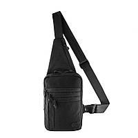 M-Tac однолямочная пистолетная сумка-кобура наплечная черная Elite Gen.IV Black
