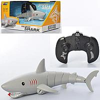 Детская игрушечная многофункциональная интерактивная Акула K23 плавает 34 см, фото 1