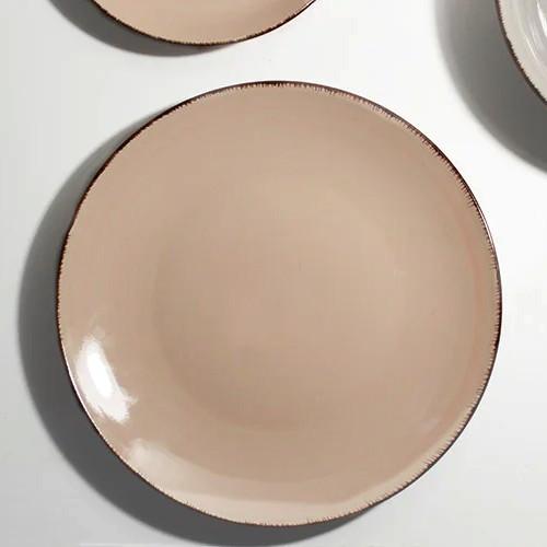 Цветная тарелка закусочная, цвет Пудра HLS (S1827)