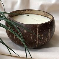 """Декоративные арома свечи для дома из натурального воска """" Кокос """""""
