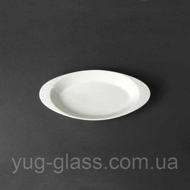 Тарелка овальная белая глубокая