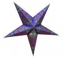 """Светильник картонный Звезда пятилучевая """"Blue Sydney"""""""