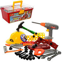 Игровой набор инструментов 2056 с каской 48 предметов, фото 1
