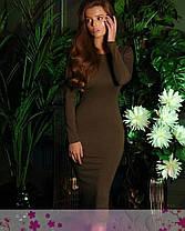 Платье двустороннее на молнии с разрезом длинный рукав, фото 3