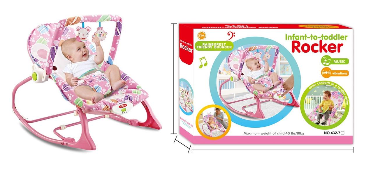 Детский шезлонг-качалка 432-7 (0-18 кг)