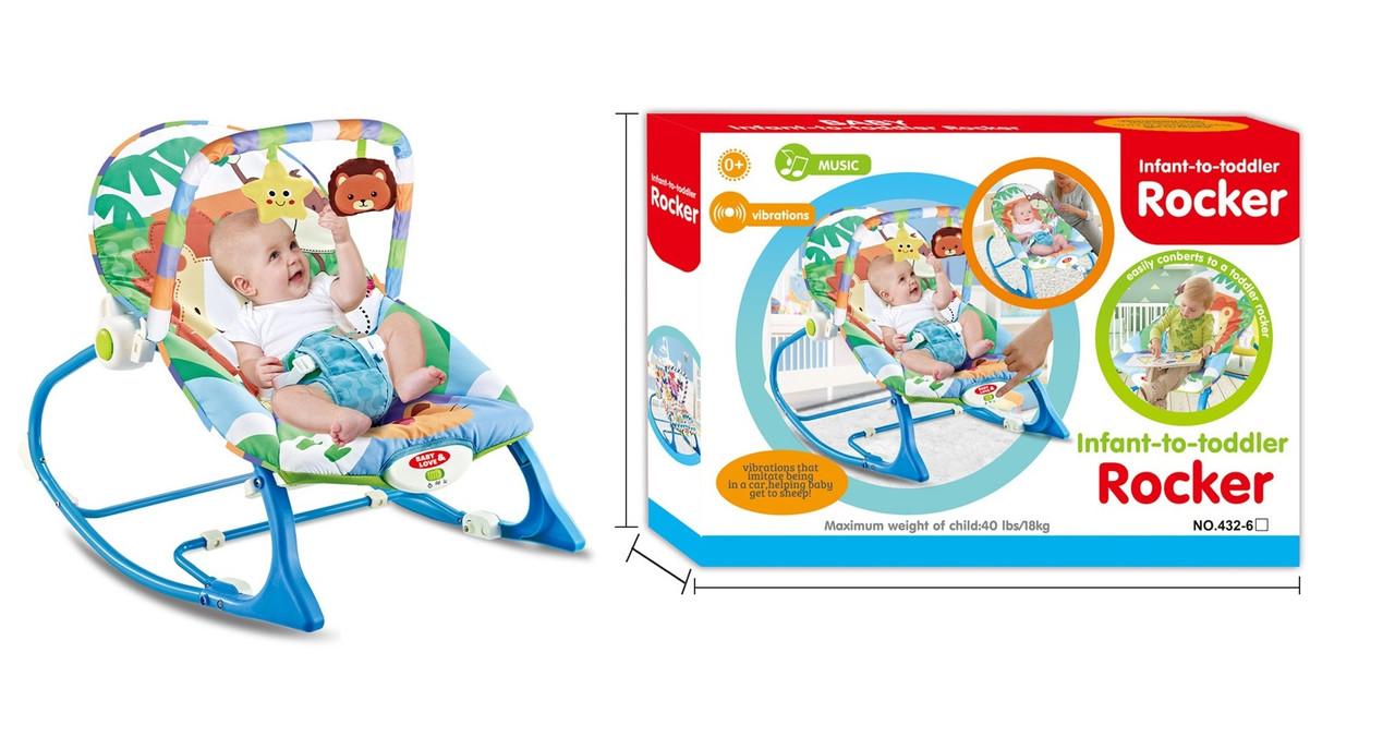 Детский шезлонг-качалка 432-6 (0-18 кг)