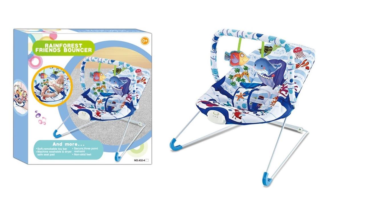 Детский шезлонг-качалка 432-4 (0-15 кг)