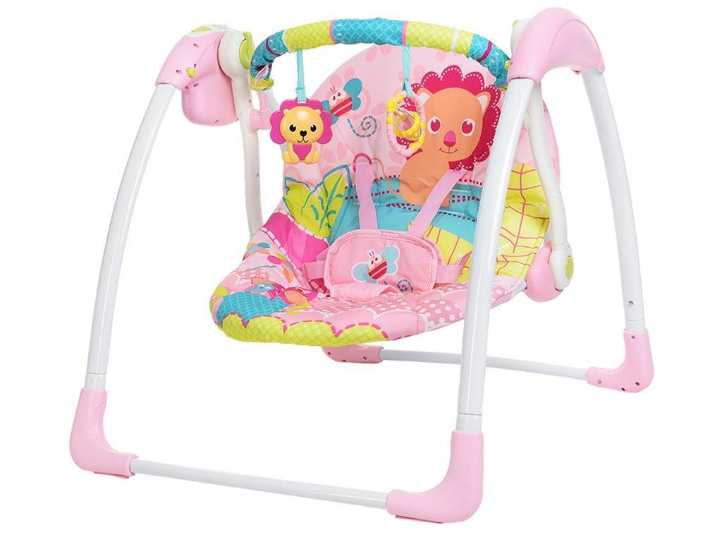 Качели детские электронные Mastela 6519 розовый