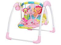 Качели детские электронные Mastela 6519 розовый, фото 1