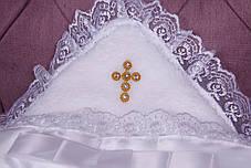 Крыжма для крещения 90х90 с уголком Крестик золото, фото 3