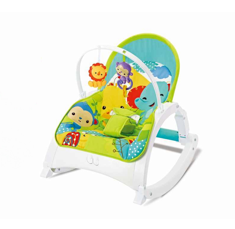 Детский шезлонг-качалка 2 в 1 FitchBaby 88954, 0-18 кг, вибрация и мелодия