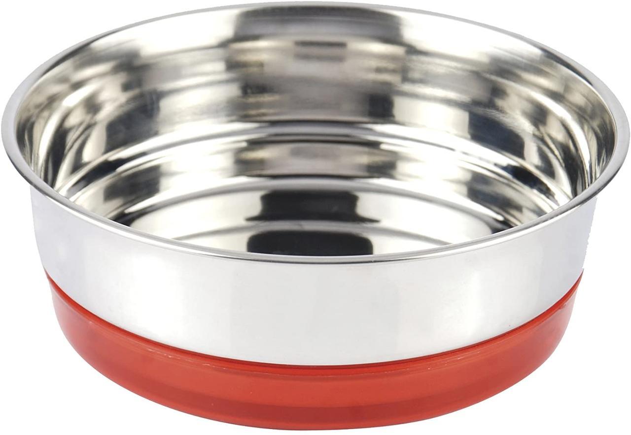 Миска для животных из нержавейки 0,47 л Croci Neon 14 см красная
