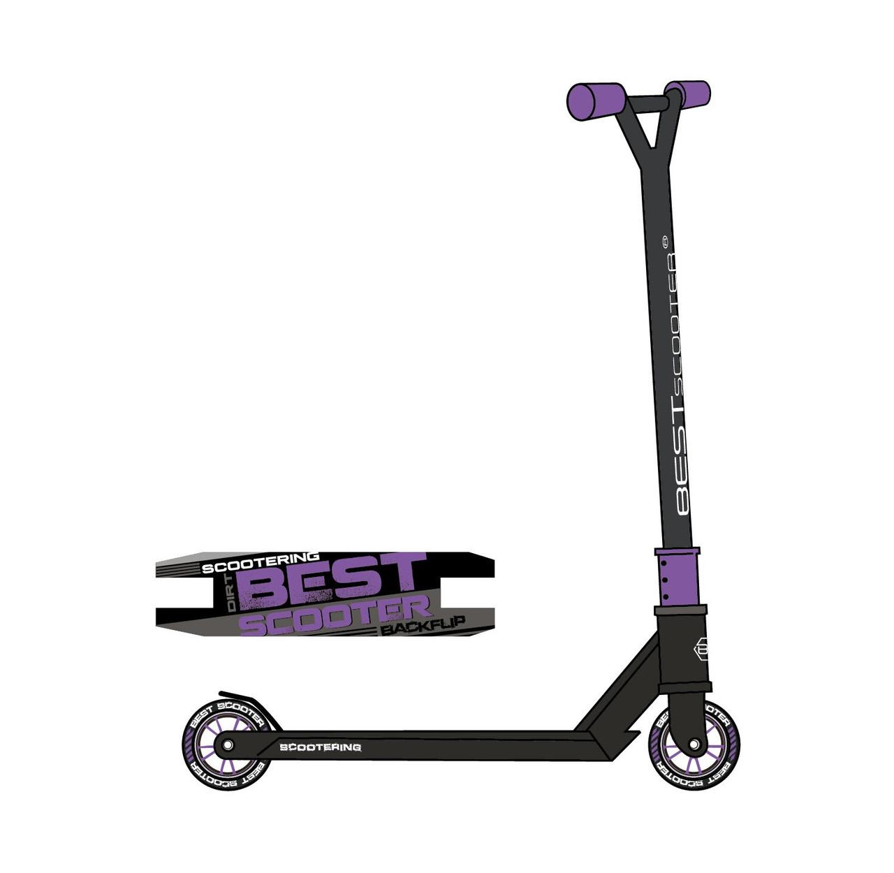 Самокат детский трюковый 97889 Best Scooter с HIC-системой,алюминиевый диск и дека,колёса PU