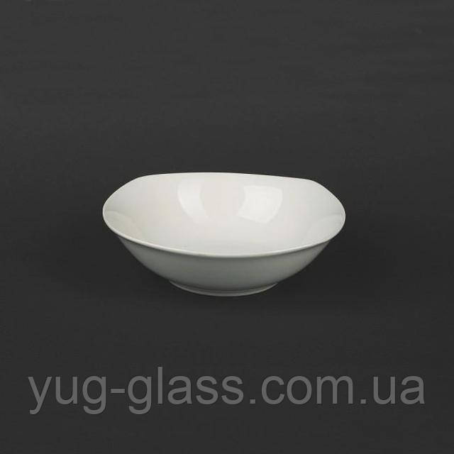салатник 300 мл белый квадратный