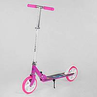 Самокат двухколесный Best Scooter 54701 Розовый с белым, колеса PU, d=20см, фото 1