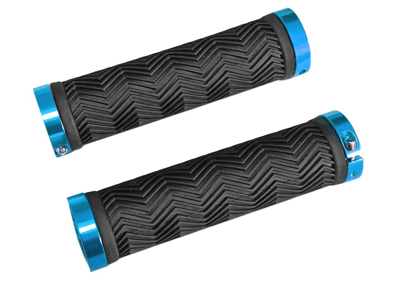 Грипсы RockBros Sole-O Grip, черные с голубыми замками