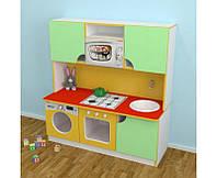 Игровая Стенка-Кухня Малютка для детских садов для сюжетных игр, с полками для хранения игрушек 120х43х125 см
