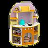 Ігрова Стінка-Кухня для дитячих садків з шафою-плитою і полицями для зберігання іграшок і посуду 80х40х115 см