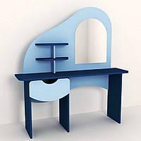 Стенка Парикмахерская для детсадов с туалетным столиком с зеркалом, полками и ящиком для мелочей 100х40х120 см