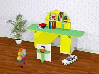 Игровой Стол для изобразительного искусства с творческой зоной для детсадов и начальной школы 160х120х110 см