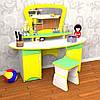 Ігрова Стінка Трюмо для юних модниць: туалетний столик з дзеркалом і полицями (без табурета) 130х52х113 см