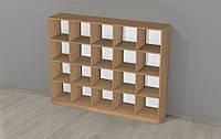 Напольный Шкаф-стеллаж для горшков на 20 мест для групп детских садов из ЛДСП, стандартный фасад 150х30х120 см