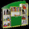 Ігрова Стінка-Гірка для дитячих садків з відкритими полицями, шафою для зберігання посібників та іграшок 180х29х177см