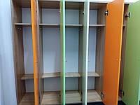 Шкаф для раздевалок детских садов на 5 мест для одежды с полками для головных уборов и обуви 130х33х135 см