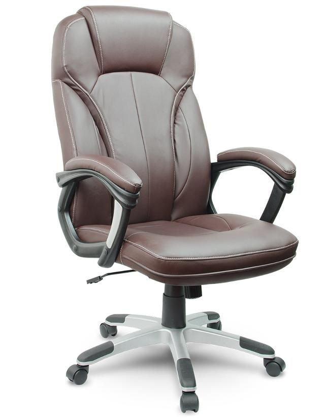 Офисное кресло компьютерное AEGO (Эко-кожа механизм TILT коричневое)