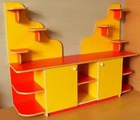 Стінка Куточок природи для дитячих садків для розміщення кімнатних рослин і зберігання іграшок 170х42х130 см