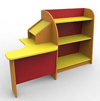 Игровая Стенка для детского сада Магазин с прилавком и угловым столом продавца для сюжетных игр 160х60х100 см, фото 1