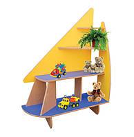 Игровая Стенка-уголок Парус для детских садов с открытыми полками для хранения игрушек и растений 120х40х148см