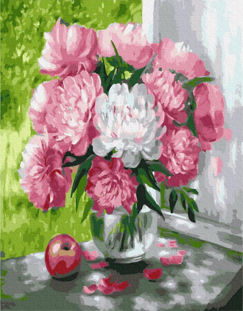 Картина рисование по номерам Brushme Пионы GX26465 40х50см       40x50см  BK-GX26465 40x50см набор для
