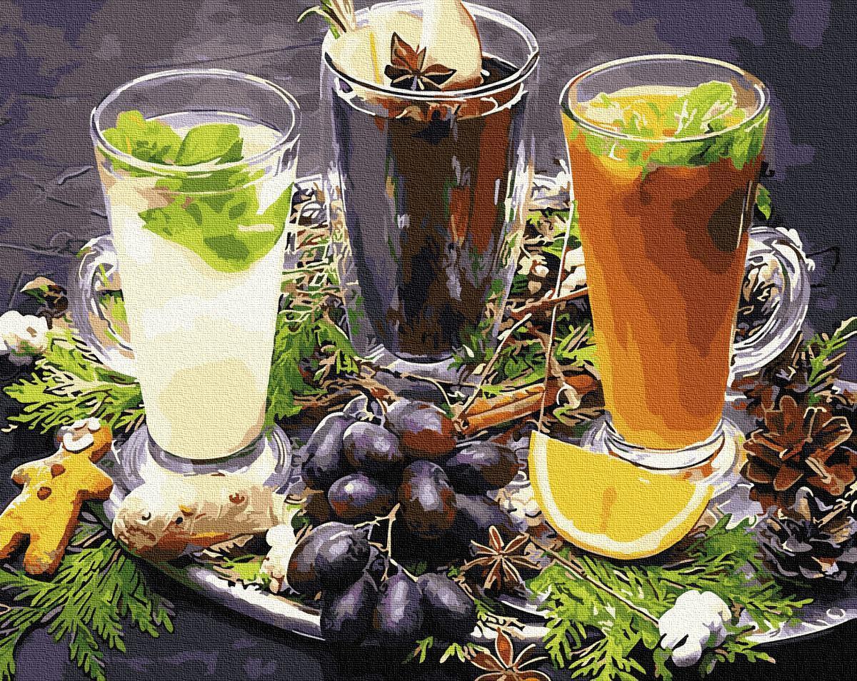Картина рисование по номерам Brushme Освежающие напитки GX34080 40х50см       40x50см  BK-GX34080 40x50см
