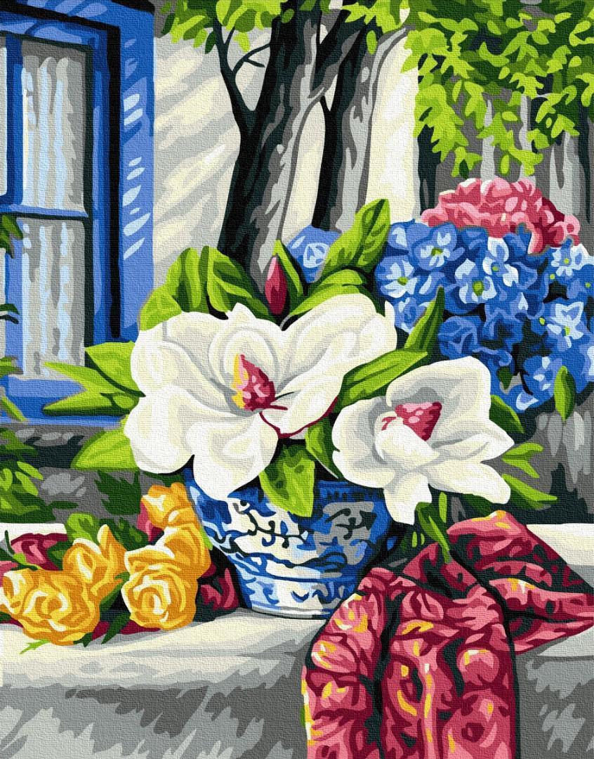Картина рисование по номерам Brushme Цветущий стол GX32160 40х50см       40x50см  BK-GX32160 40x50см набор для