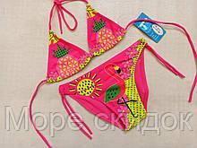 Купальник для девочек Z.FIVE 26155 Клубника розовый(В НАЛИЧИИ ТОЛЬКО  28 30 32 34 36 размеры)