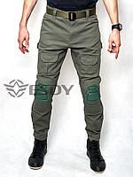 Тактические Штаны с Наколенниками ESDY TAC-02 Олива ( Весна-Лето ), фото 1